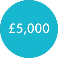 blue circle £5000