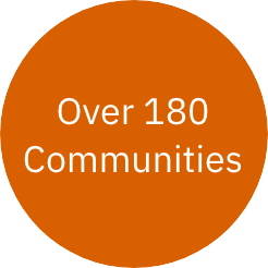 Over 180 communities